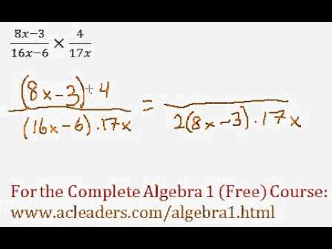 (Algebra 1) Rational Expressions - Multiplying #6
