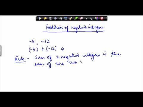 60. CBSE Math Class IX, ICSE Class 9 -  Addition of negative integers