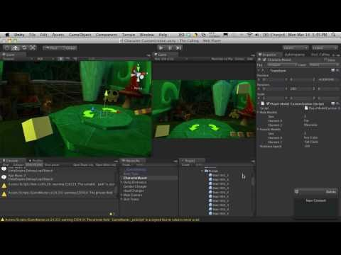 186. Unity3d Tutorial - Character Customization Part 17