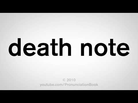 How To Pronounce Death Note