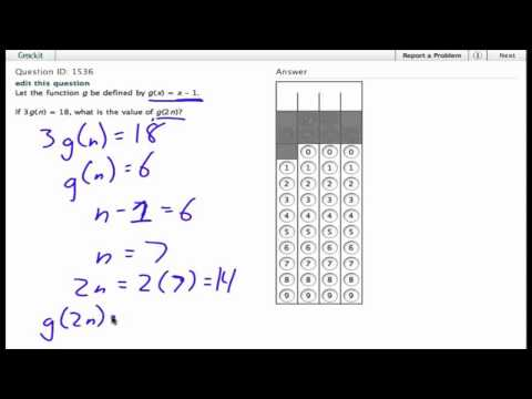 Grockit SAT Math - Student Produced Response: Question 1536