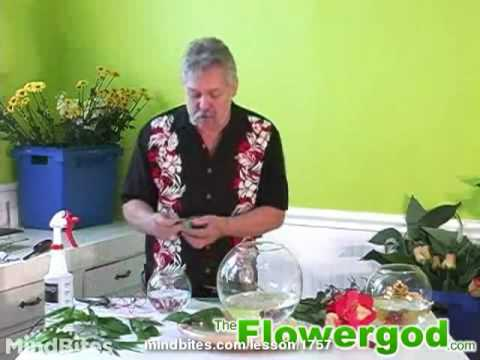 Flower Arrangement: How to Prepare a Triple-Layer Bubble Bowl Floral Design