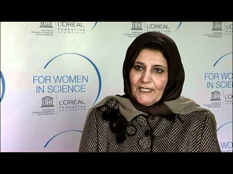 Professor Faiza Al-Kharafi, Laureate of the L'Oréal-UNESCO 2011 For Women in Science Awards