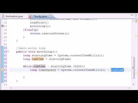 Java Game Development - 12 -  Main Movie Loop