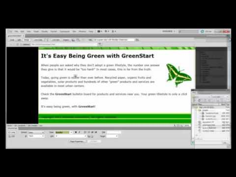 Dreamweaver Tutorial : Working with Colors and Fonts in Adobe Dreamweaver CS5
