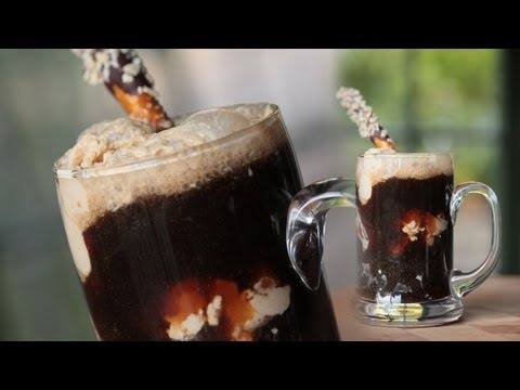 Chocolate Stout Ice Cream Float w/ Peanut Butter Ice Cream: Homemade Recipe || Kin Eats