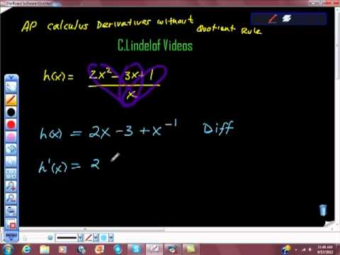 AP Calculus Differentiation Without the Quotient Rule Pt II