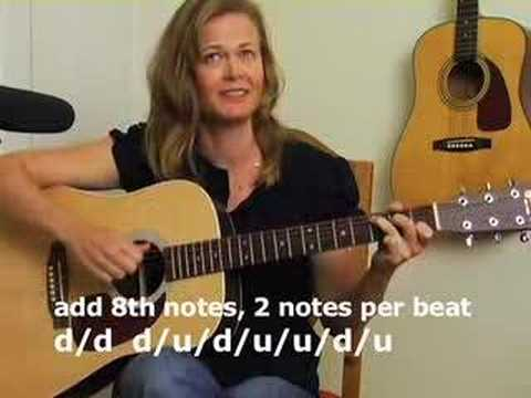 Learning acoustic guitar new strum pattern - get rhythm
