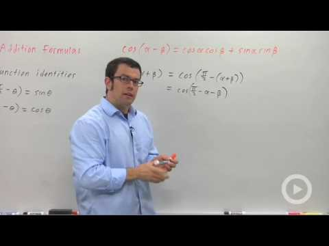 Precalculus - The Sine Addition Formulas