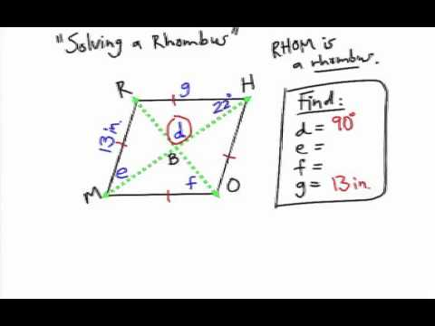 How to Solve a Rhombus: Using Algebra