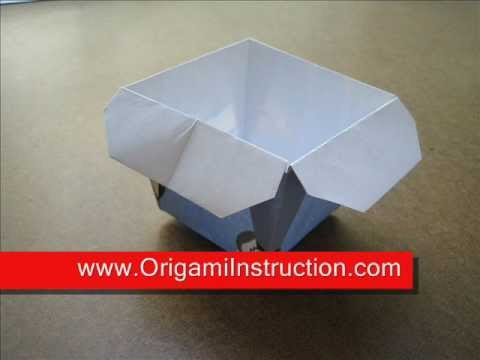 How to Fold Origami Bucket or Container - OrigamiInstruction.com