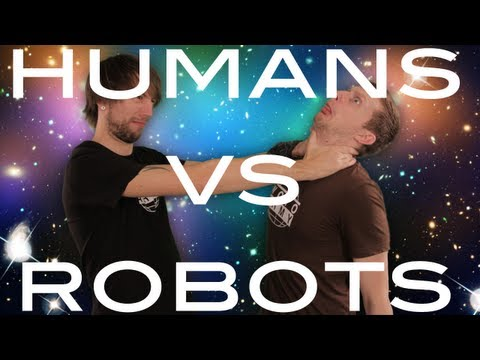 Humans VS Robots - YouTube Space Lab with Liam & Brad