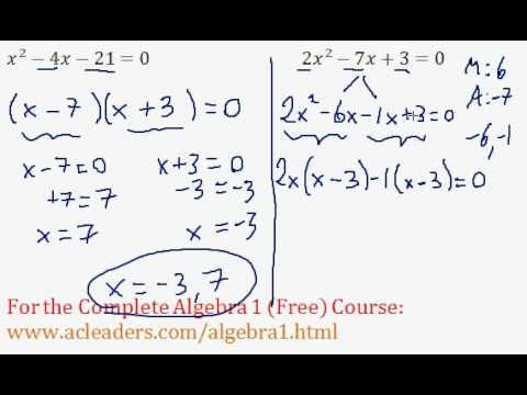 Quadratics - Solving by Factoring Question #6