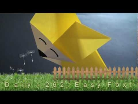 Origami Daily - 262: Easy Fox - TCGames [HD]