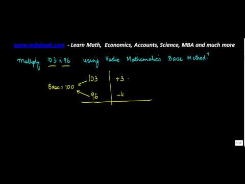 1296, Vedic Maths   Multiply Base Method Problem 3