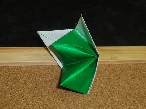 Daily Origami:  120 - Old School Origami - Fox Puppet