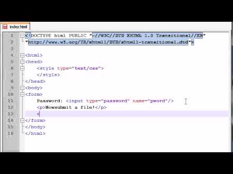 XHTML and CSS Tutorial - 44 - Passwords & Upload Buttons