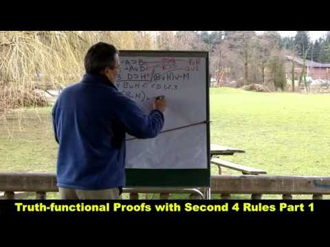 Truth functional Proofs with Second 4 Rules Part 1 HD mp4   YouTube