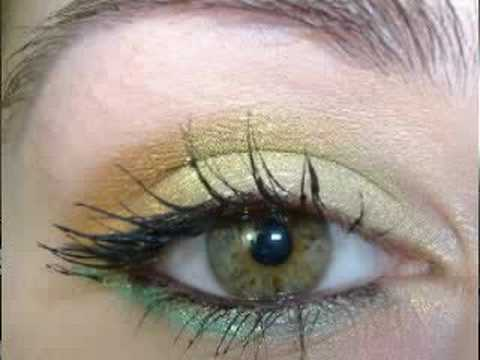 BARRY M gold green & marigold make up tutorial