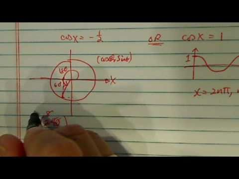 Solving a trigonometric equation