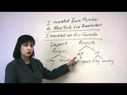 Speaking English - Talking about travel