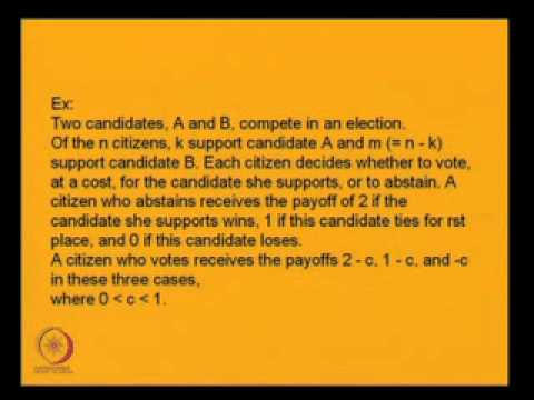 Mod-02 Lec-08 Public Good Provision, Strict Nash Equilibrium