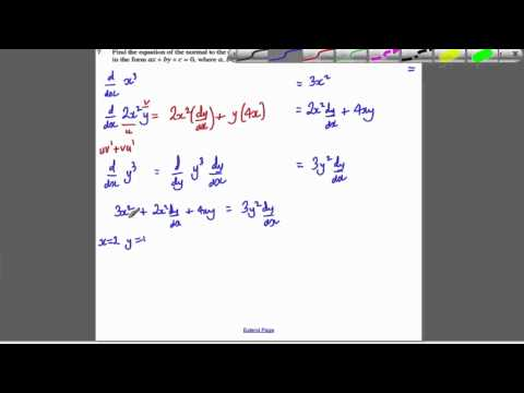 Core 4 OCR Jan 2010 Q7 - Implicit Differentiation (6)