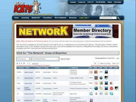 EVSC Network Directory Website Tour