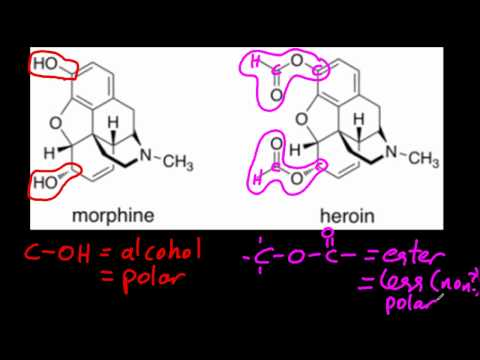 D.8.4 Explain the increased potency of diamorphine (heroin) compared to morphine IB Chemistry