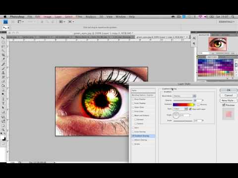 Photoshop Tutorial : How to make cool green eyes