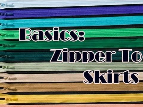 Sewing Basics #1: Putting in Zipper for A Skirt : Secretlifeofabionerd