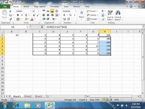 Excel 2010 Tutorial The Redo Button Microsoft Training Lesson 5.5
