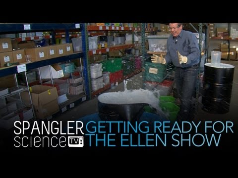 Getting Ready for the Ellen Show - Cool Science Experiment