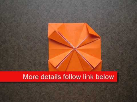 How to Fold Origami Flower Coaster - OrigamiInstruction.com