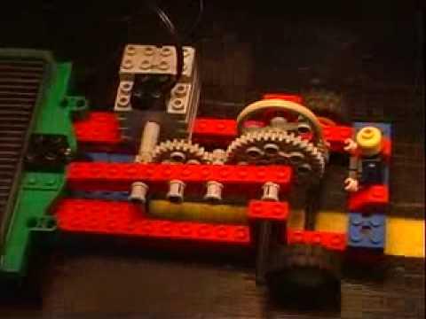 Solar Lego Car in Motion