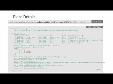 Getting started with the Google Places API