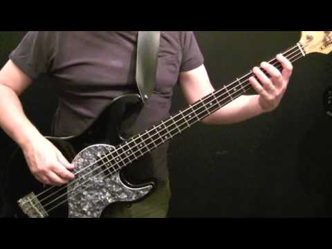 How To Play Bass Guitar To Money For Nothing - Dire Straits - Beginners Bass Lesson