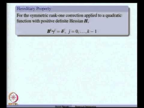 Mod-06 Lec-16 Quasi-Newton Methods - Rank One Correction, DFP Method