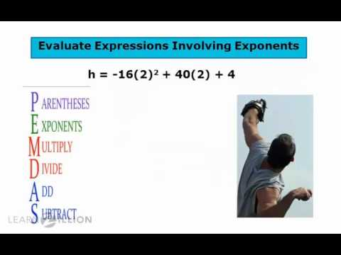 Evaluate expressions involving exponents - 8.EE.1