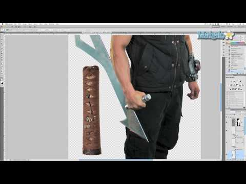 Photoshop Tutorial - Add Handle to Sword