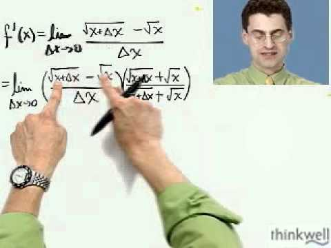 The Derivative of the Square Root Function, Part 1 of 2, from Thinkwell's Calculus Video Course