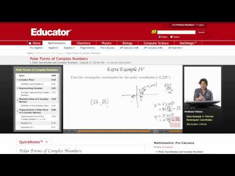 Pre-Calculus: Polar Forms of Complex Numbers