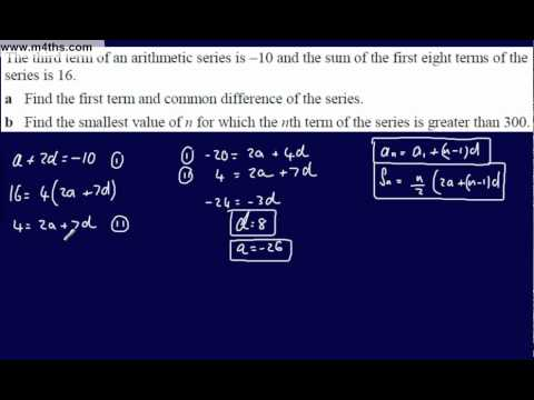 (9) Core 1 Arithmetic Sequences & Series (Harder Inequality)