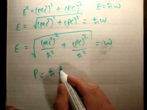 Dispersion relation and schrodinger equation