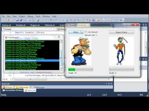 Visual Basic Tutorial - 160 - Game Part 16   OH NO! LOGIC ERRORS