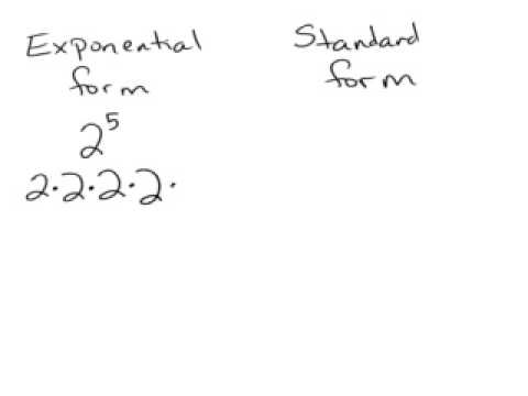 Exponential and standard form