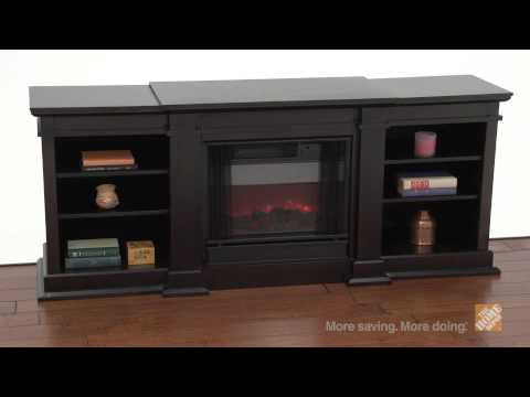 Real Flame Fresno Dark Walnut Electric Fireplace And Entertainment Center - The Home Depot