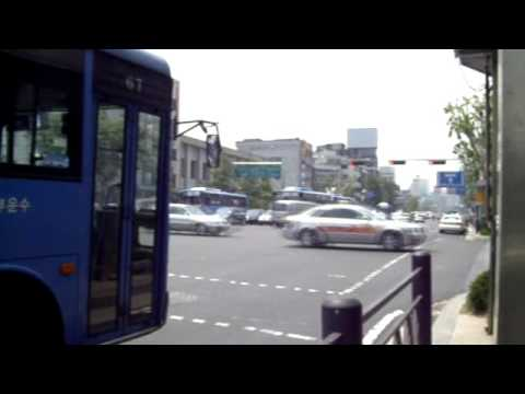 Traffic passing by in Jongno, Seoul Korea - 2009 May