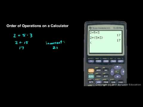 Prealgebra 1.7h - Order of Operations on a Calculator