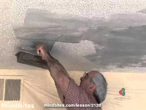 Removing Popcorn Texture - Drywall Repair